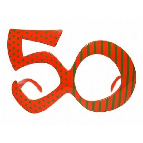 Okulary Na 50 Urodziny Pomarańczowe Partyszoppl Dekoracje