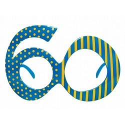 Okulary na 60 urodziny, niebieskie