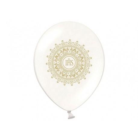"""Balon gumowy 14"""" biały """"IHS"""""""
