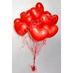 Pęk balonów z helem- serca duże