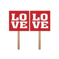 """Karteczki """"LOVE/LOVE"""" 2 szt."""