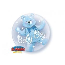 """Balon 24"""" Miś w balonie Baby Boy 3D"""
