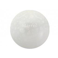 """Balon kula """"Just Married"""""""