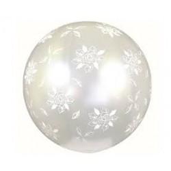 Balon kula z nadrukiem białe róże