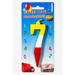 Świeczka urodzinowa 7