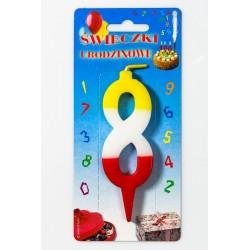 Świeczka urodzinowa 8