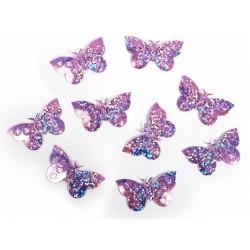 Konfetti holograficzne Motyle j.róż, 1op