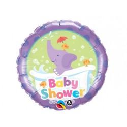 """Balon foliowy 18"""" Baby Shower ze słonikiem"""