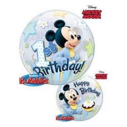 "Balon foliowy 22"" Happy Birthday, Myszka Miki 1ur"