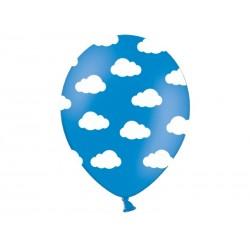 "Balon gumowy 14"" Chmurki, Pastel Mid Blue, 1szt"
