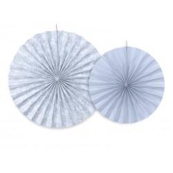 Rozety dekoracyjne szaroniebieskie rozetki