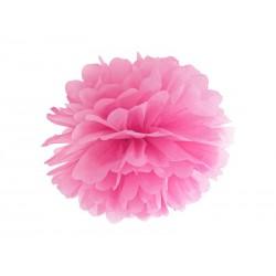 Pompon papierowy różowy, 35cm