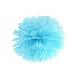 Pompon papierowy błękit, 35cm