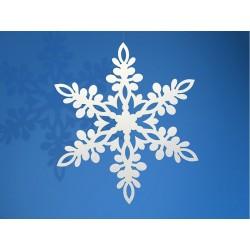 Dekoracje Śnieżynka, biały 13cm