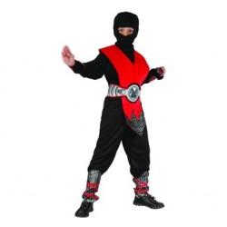 Strój Czerwony Ninja, lux, r. 130/140