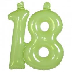 Balon foliowy na 18, zielony