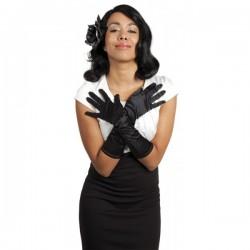 Rękawiczki wieczorowe, długie czarne