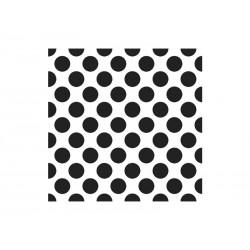 Serwetki 3-warstwowe, białe/czarne kropki, 20 szt.