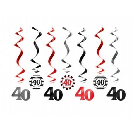 świderki Na 40 Urodziny 7szt Partyszoppl Dekoracje Imprezowe