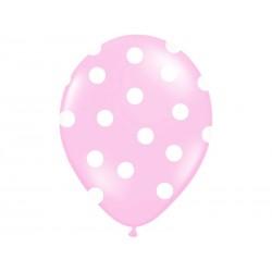 "Balon 14"" Pastel Pink ""Kropki"", 1szt."