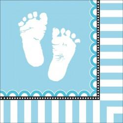 Serwetki Słodkie Stópki, niebieskie 16szt