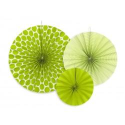 Rozety dekoracyjne zielone jabłuszko