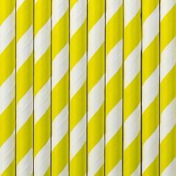 Słomki papierowe, żółte 10szt