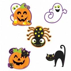 Dekoracje konfetti Happy Halloween, 10szt