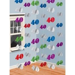 """Dekoracja wisząca """"40"""", 210cm"""