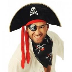 Opaska Pirata na oko, z czachą