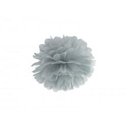 Pompon papierowy szary, 25cm