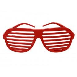 Okulary Żaluzje, malinowe 1szt.