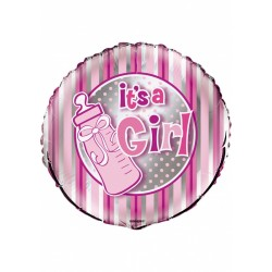 "Balon foliowy 18"", It's a girl, butelka 1szt"