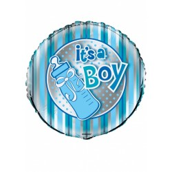 "Balon foliowy 18"", It's a boy, butelka 1szt"