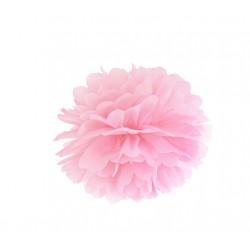 Pompon papierowy j.różowy, 25cm