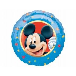 Balon foliowy 18'' Mickey Portrait, niebieski