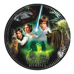 Talerzyki papierowe Star Wars &Heroes, 8szt