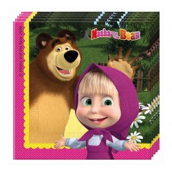 Serwetki Masha And The Bear, 20szt.