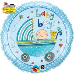 """Balon foliowy 18"""" Wózek Baby Boy"""