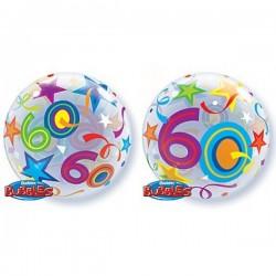 """Balon foliowy 22"""" 60 urodziny, 56cm"""