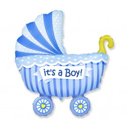 """Balon foliowy 24"""" wózek dla chłopca"""