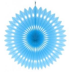 Rozeta dekoracyjna błękitna, 40 cm