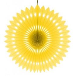 Rozeta dekoracyjna żółta, śr. 40 cm