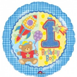 Balon foliowy 1 Urodziny Chłopca